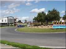 S5809 : Six Cross Roads Roundabout near Ballyhoo by David Hawgood