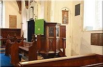 TM2384 : St Margaret, Starston, Norfolk - Pulpit by John Salmon
