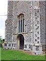 TM2787 : All Saints, Alburgh, Norfolk - Base of tower by John Salmon