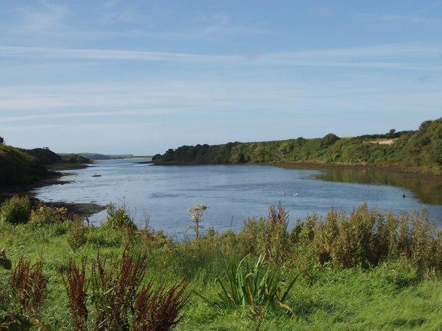 Keiloge River estuary, part of Back Strand