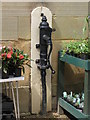 NZ0878 : Old water pump in the stable yard at Belsay Hall by Mike Quinn