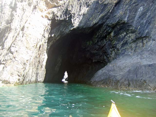 A tempting natural arch for a kayaker!