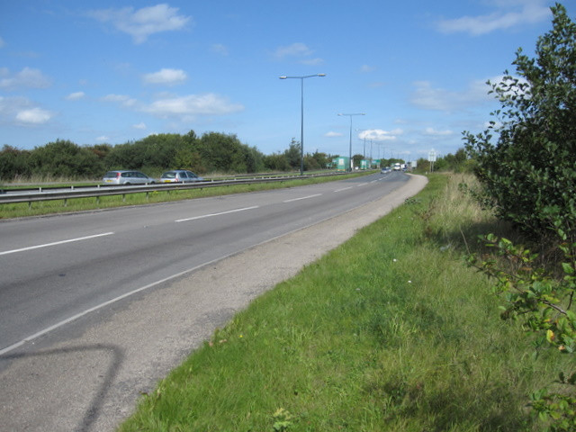The A483 towards the A55