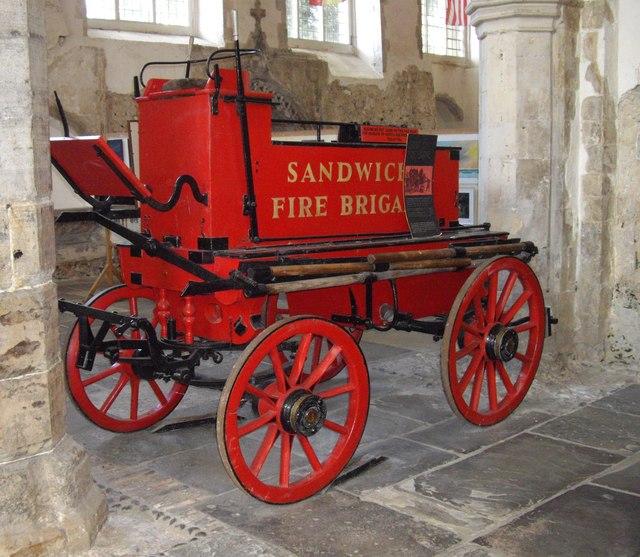 19th century Fire Engine in St Peter's Church Sandwich