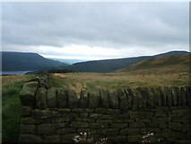 SK1887 : Dry stone wall , by Crook Hill by Peter Barr