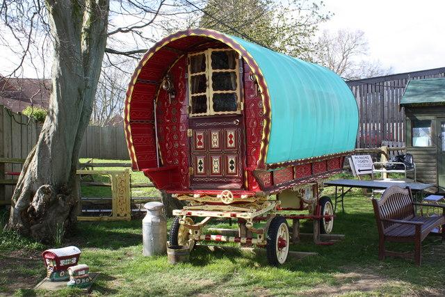 Gypsy Caravan at Rare Breeds Centre, Woodchurch