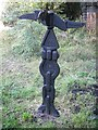 NS4039 : Millennium milepost, Crosshouse by Richard Webb