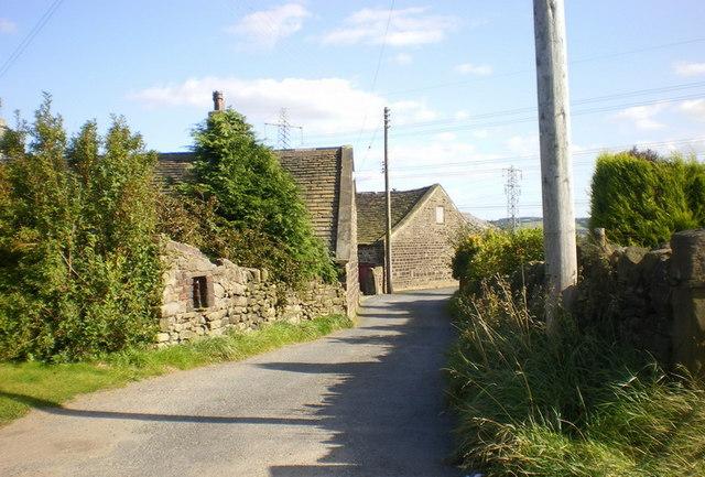 Scholes Lane at Upper Scholes Farm
