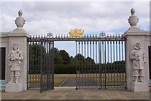TQ7668 : Exit to Chatham War Memorial by David Anstiss
