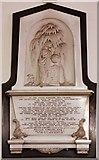 TR3748 : St John the Evangelist, Kingsdown, Kent - Wall monument by John Salmon