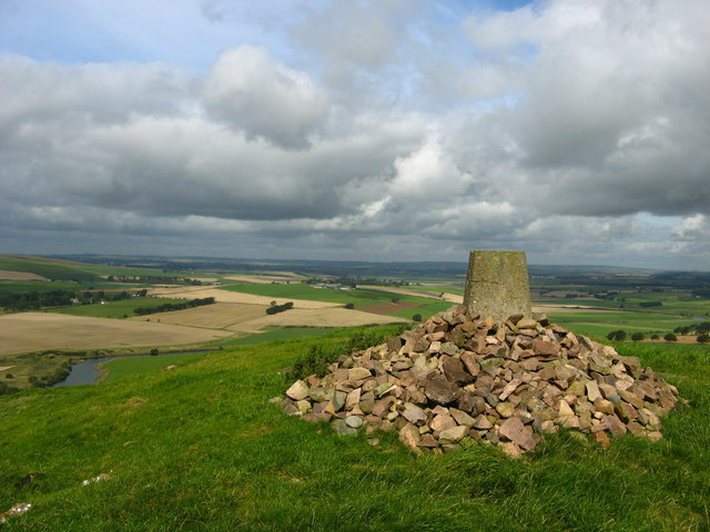 Trig point on Quothquan Law
