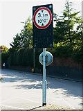 SU1585 : Warning sign, Corporation Street, Swindon by Brian Robert Marshall
