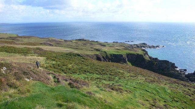 Climbing towards Beinn Mhor