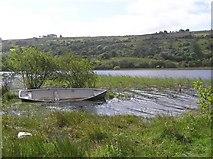 G8345 : Boat moored at Glenade Lough by Kenneth  Allen