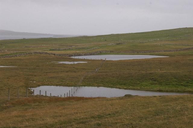 Loch of Broomhill and other un-named lochans, Uyeasound