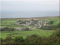 SW4538 : Zennor village from Trewey Hill by David Medcalf