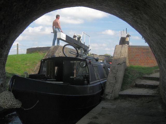 Passing through Lock 14  (13) Starting to leave Lock 14