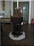 SU6400 : The font at All Saints, Portsea by Basher Eyre