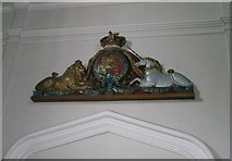 SU6400 : Coat of arms above the west door at All Saints, Portsea by Basher Eyre