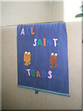 SU6400 : Junior banner within All Saints, Portsea by Basher Eyre