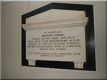 SU6400 : Memorial on the south wall at All Saints, Portsea by Basher Eyre