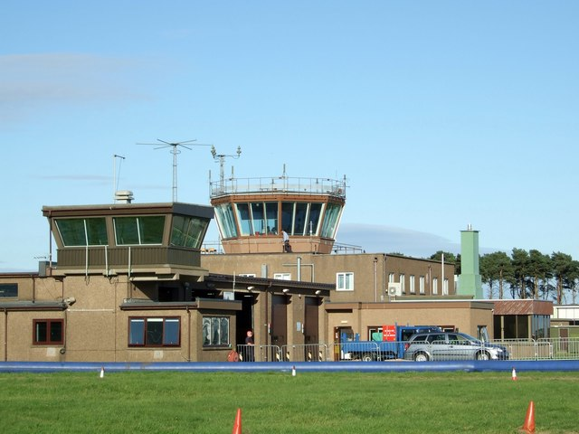 RAF Leuchars fire station and air traffic control tower