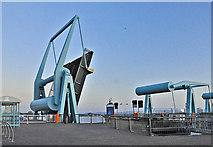 ST1972 : Open lock gate - Cardiff Bay by Mick Lobb