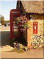 SY4198 : Shave Cross: postbox № DT6 52 and phone by Chris Downer