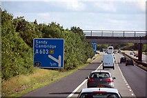 TL4157 : M11 Approaching junction 12 by John Salmon