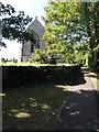 TL0575 : Footpath next to Bythorn Church by Michael Trolove