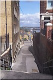TQ7567 : Footpath to Rochester High Street by David Anstiss