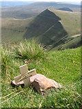 SO0121 : Private memorial on Pen y Fan by Gareth James