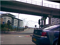 TQ4380 : Entrance to Sir Steve Redgrave Bridge by Robert Lamb