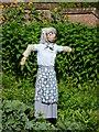 SS9615 : Mid Devon : Knightshayes Court, Allotment Scarecrow by Lewis Clarke