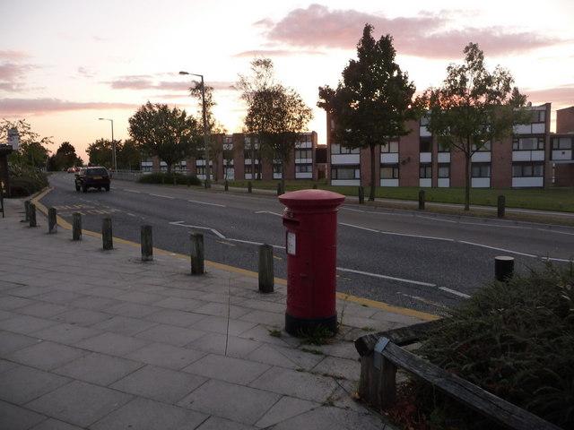 Canford Heath: postbox № BH17 281, Adastral Road
