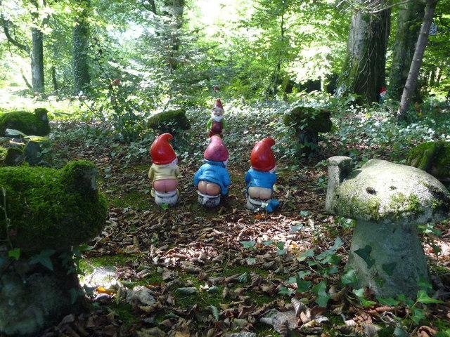 North Devon : The Gnome Reserve, Gnomes on the Job