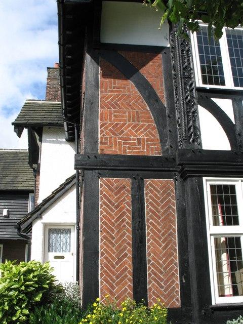 House at Port Sunlight (Timbered with Herringbone Brickwork)