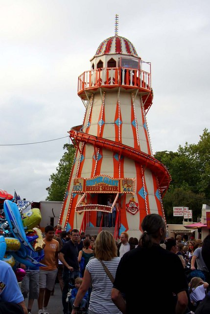 The Helter Skelter at St Giles Fair