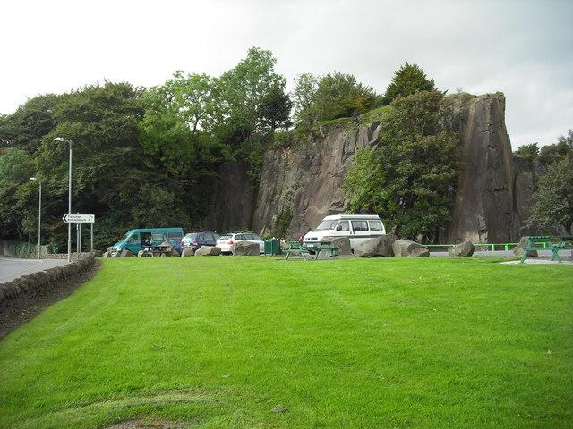 Car park Auchinstarry quarry