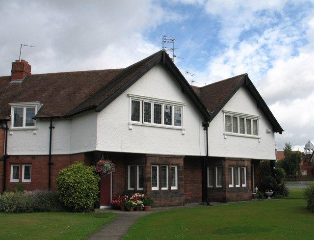 Houses at Port Sunlight (Projecting Upper Floor on Red Sandstone Bay Windows)