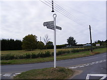 TM4077 : Old Road Sign, Holton by Adrian Cable