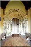 TM3898 : St Gregory's Church, Heckingham, Norfolk - Porch doorway by John Salmon