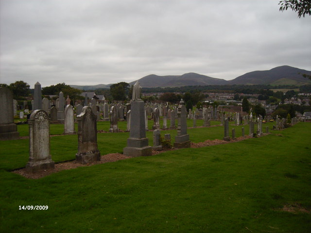 Pentland Hills from Kirkhill Cemetery