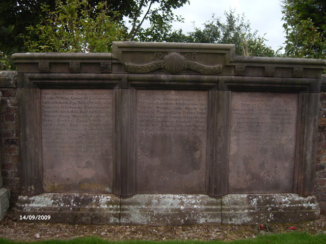 Triple Gravestone of the Cowan Family