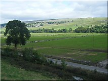 SD9768 : Wharfedale from beneath Kilnsey Crag by Ivan Hall