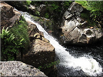 NN0633 : Small waterfall, River Noe by Hugh Venables