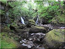 NN0633 : River Noe waterfalls by Hugh Venables