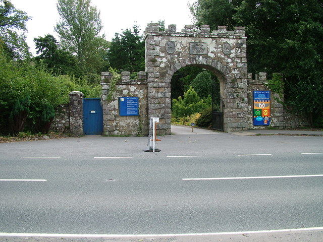 Entrance to Muncaster Castle