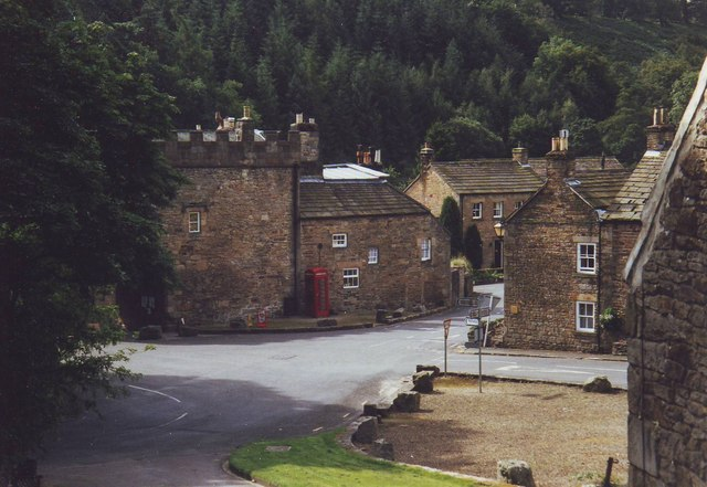 Road  junction in Blanchland