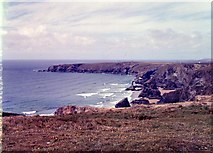 SW8469 : Looking north from Carnewas - 1962 by M J Richardson